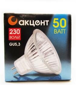 Jcdr 230В 50w gu5.3 с отражателем и защитным стеклом, Лампа галогенная