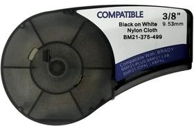 BM21-375-499 - лента нейлоновая для BMP21-Plus 9.53мм/4.88м, черная на белом, аналог brd110893 (Китай)
