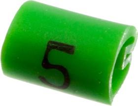 """EC0209-000, 05811505, маркер """"5"""" на кабель 2-3.2мм зеленый"""