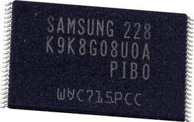 K9K8G08U0A-PIB0, 1G X 8 FLASH 2.7V PROM, 20 ns, 48 Pin Plastic SMT