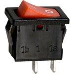 R19A-12BRBT-G, выключатель ON-OFF 250В 6А красн. (B100G-R,SWR41)