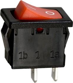 R19A-12BRBT-G, выключатель ON-OFF 250В 6А красн. (аналог B100G-R SWR41)