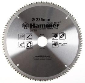 Диск пильный Hammer Flex 205-303 CSB AL 235мм*100*30мм по алюминию