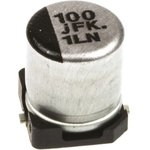 Фото 2/2 EEEFKJ101UAR, SMD электролитический конденсатор, Radial Can - SMD, 100 мкФ, 6.3 В, Серия FK, 2000 часов при 105°C