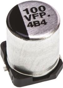 EEEFPV101XAP, Cap Aluminum Lytic 100uF 35V 20% (6.3 X 7.7mm) SMD 0.16 Ohm 600mA 2000h 105C Automotive T/R