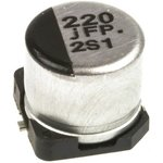 Фото 2/3 EEEFP0J221AP, SMD электролитический конденсатор, Radial Can - SMD, 220 мкФ, 6.3 В, 0.26 Ом, Серия FP