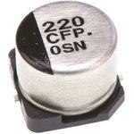 Фото 2/3 EEEFP1C221AP, SMD электролитический конденсатор, Radial Can - SMD, 220 мкФ, 16 В, 0.18 Ом, Серия FP