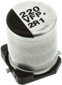 Фото 1/2 EEEFP1V221AP, Cap Aluminum Lytic 220uF 35V 20% (8 X 10.2mm) SMD 0.08 Ohm 850mA 2000h 105C Automotive T/R