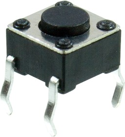 KLS7-TS6601-4.3-180 кнопка тактовая 6х6 h=4.3мм (0643HIM,TS-A1PS)