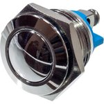 KLS7-PBS-M16-01D кнопка металл.OFF-(ON) 36В 2А D=18мм винт. клем.
