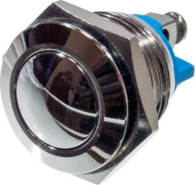 L-KLS7-PBS-M16-01D, кнопка металл.OFF-(ON) 36В 2А D=18мм винт. клем.