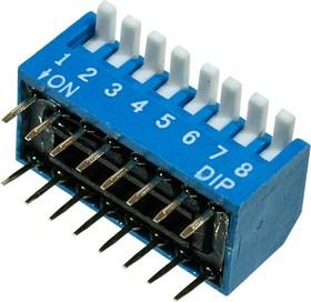 KLS7-DP-08-B-00, DIP переключатель 8 поз.уг.90 (SWD3-8)