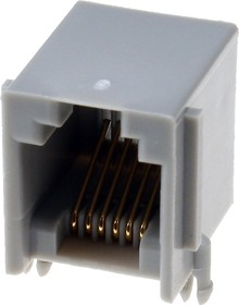 TJ3B-6P6C, розетка телеф. на плату тип 3B