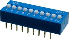 KLS7-DS-10-B-00 DIP переключатель 10 поз.(SWD1-10)