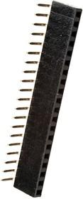 PBD-20R, гнездо на плату шаг 2.54мм 2x10 угл.