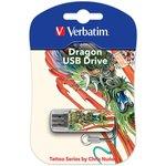 Флешка USB VERBATIM Mini Tattoo Dragon 16Гб, USB2.0 ...