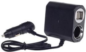 Разветвитель 12/24В арт.WF-6031 3 гнезда + 2 USB 1A (WF-6031)