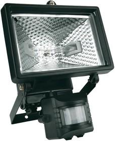 94W022, Прожектор (светильник) галогеновый 150 Вт, с детектором движения, черный