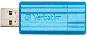 Флешка USB VERBATIM PinStripe 4Гб, USB2.0, черный [49061]