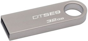 Флешка USB KINGSTON DataTraveler 32Гб, USB2.0, серебристый [dtse9h/32gb]