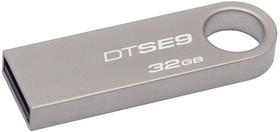 Флешка USB KINGSTON DataTraveler 32Гб, USB2.0, серебристый [dtse9h/32gb]