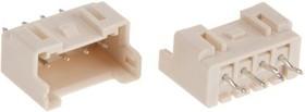 Фото 1/2 B04B-XASK-1(LF)(SN), Разъем типа провод-плата, скрытый, 2.5 мм, 4 контакт(-ов), Штыревой Разъем, Серия XA, Обжим