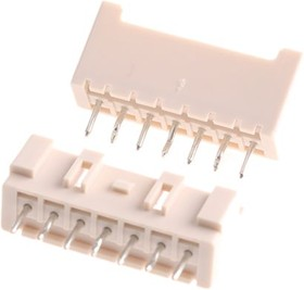 B07B-XASK-1 (LF)(SN), Conn Shrouded Header (4 Sides) HDR 7 POS 2.5mm Solder ST Thru-Hole Box