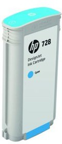 Картридж HP 728 F9J67A, голубой