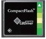 CFG8V02GLABWS-FAA, Встраиваемая карты памяти CompactFlash с контроллером GBDriver RA8 и SLC флэш-памятью 2 Гбайт