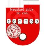 Печатная плата Neopixel stick 16_con, Печатная плата с ...