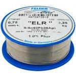 """Sn62Pb36.05Ag1.95 Тр ISO-Core """"ELR"""" (1мм), Припой олово-свинец-серебро, катушка 100г"""