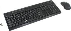 Комплект (клавиатура+мышь) OKLICK 280M, USB, беспроводной, черный [mk-0253]