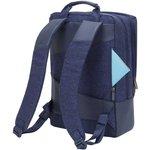 """Фото 7/9 Рюкзак для ноутбука 15"""" Riva 7960 синий полиэстер"""