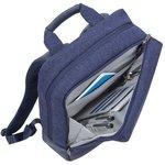 """Фото 9/9 Рюкзак для ноутбука 15"""" Riva 7960 синий полиэстер"""