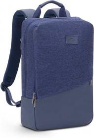 """Фото 1/9 Рюкзак для ноутбука 15"""" Riva 7960 синий полиэстер"""