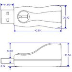 Фото 4/4 DS9490B#, Адаптер USB - 1-Wire/iButton