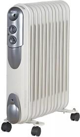 Фото 1/2 ОМПТ-12Н, Масляный радиатор, мощность 2,5кВт, 570x140x650, 12 секций овальной формы, на роликах.