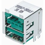 Фото 2/2 55917-501LF, USB STACKED, 2.0 TYPE A, 2PORT, R/A