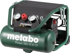 Компрессор METABO Power 250-10 W OF (601544000) поршневой безмасляный, 1500 Вт, 220л/мин, 10бар