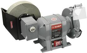 ЗТШМ-150/200У_z01, ЗУБР заточной станок для мокрого и сухого шлифования, d150 / d200 мм, 350 Вт