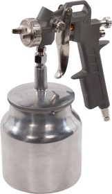 Краскопульт для компрессора QE 770-827 HP, сопло: 1.5 мм, макс. 200 л/мин, бак: 0.75 л