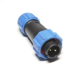 OL1310/P2, Разъем герметичный 2pin вилка на кабель с гайкой