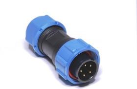 OL1310/P5, Разъем герметичный 5pin вилка на кабель с гайкой