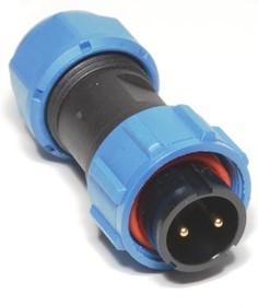 OL1710P-2-I, Разъем герметичный 2pin вилка на кабель