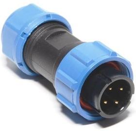 OL1710/P4, Разъем герметичный 4pin вилка на кабель