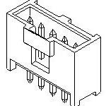 Фото 3/3 90136-1203, Разъем типа провод-плата, вертикальный, 2.54 мм, 3 контакт(-ов), Штыревой Разъем