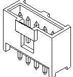 0901361102, Conn Shrouded Header (4 Sides) HDR 2 POS 2.54mm Solder ST Thru-Hole C-Grid III Frame