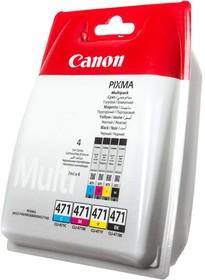 Картридж CANON CLI-471C/M/Y/Bk 0401C004, многоцветный