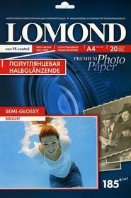 Фотобумага LOMOND 1101306, для струйной печати, A4, 185г/м2, 20 листов