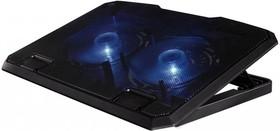 """Подставка для ноутбука Hama (00053065) 15.6""""270x370x30мм 23дБ 2x 140ммFAN 802г пластик черный"""